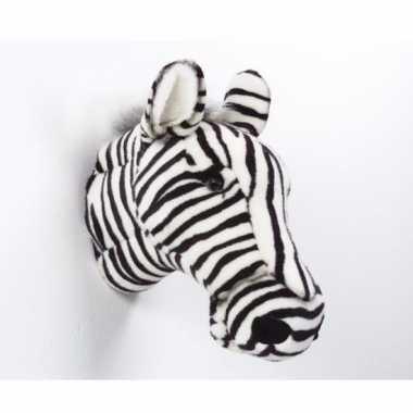 Pluche  Decoratie koppen zebra dierenkop