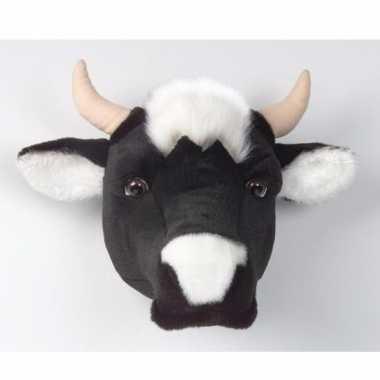 Pluche  Dierenkop koe aan muur