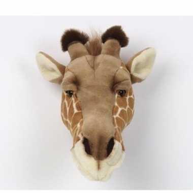 Pluche giraffenkop muur dierenkop