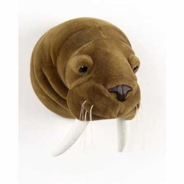 Pluche jacht trofee walrus dierenkop