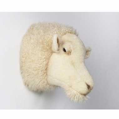 Pluche  Jacht trofee wit schaap dierenkop