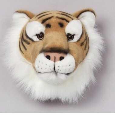 Pluche  Trofee een tijger dierenkop