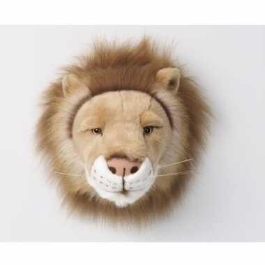 Pluche  Trofee leeuwenkop dierenkop